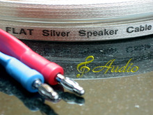 Reference Grade Silver Flat Ribbon Speaker Cable