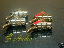 8pcs 45 Degree Gold Plated Speaker Banana Plug -Tube Amp