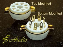 4-Sets Gold Plated 8 Pin Panel Mounted Tube Socket EL34