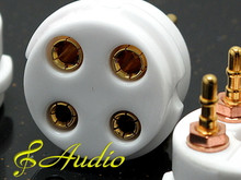 4 Piece Professional Gold Plated 4 Pin Tube Socket - 300B 2A3 811A