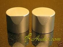 2 pcs 40mmD x 31mmL Silver Color Solid Aluminum Knobs