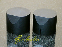 2 pcs 40mmD x 31mmL Black Color Solid Aluminum Knobs