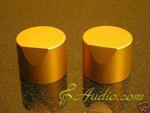 2 pcs 40mmD x 31mmL  Golden Color Solid Aluminum Knobs