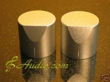 2 pcs 34mmD x 31mmL Silver Color Solid Aluminum Knobs