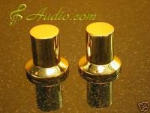 2 pcs 25mmDx25mmL Gold Plated Volume Knob