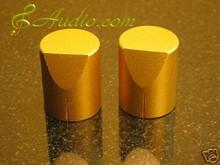 2 pcs 25mmD x 31mmL  Golden Color Solid Aluminum Knobs