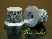 2 pc 40mmDx33mmL Silver Color Solid Aluminum Knobs