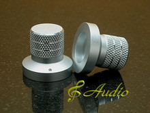 2 pc 30mmDx27mmL Silver Color Solid Aluminum Knobs