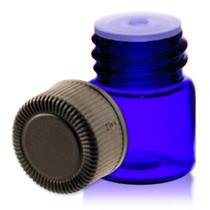 1/4 Dram Blue Glass Vial - w/Cap and Orifice Reducer