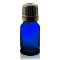 15 ml Cobalt BLUE Euro Dropper Bottles with Black Cap and Inserts