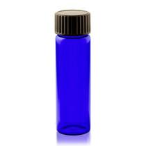 2 Dram Cobalt Blue Glass Vial - w/ Cap