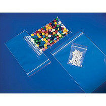 "3"" x 5"", 2 Mil Reclosable Clear Ziplock Poly Bags, Pack of 100"