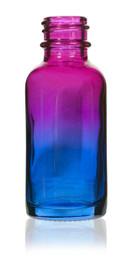 1 Oz Specialty Multi Fade Cosmic Cranberry and Teal blue Boston Round w/ Black Fine Mist Sprayer