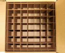 Corrugated Box with 64 Dividers (Fits 64 - 4 oz. Boston Round Bottles) - MOQ 100