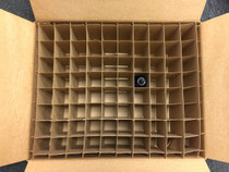 Corrugated Box with 100 Dividers (Fits 100 - 1 oz. Boston Round Bottles) - MOQ 45