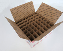 Corrugated Box (USPS  LG) with 49 Cells (Fits 49 - 30ml or  60ml Bottles) - MOQ 100