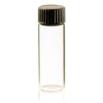 1 Dram Clear Glass Vial - w/Cap