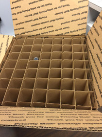 Partitions for USPS Large Flat rate Box with 49 Cells (Fits 49 - 30ml or 60ml Bottles)