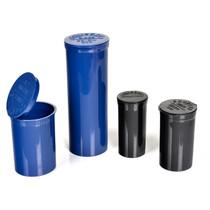 225 pcs, 19 Dram Black Pop Top Containers Full Cases, Best Medical Container Pop Top Bottles Pop Top Vial.
