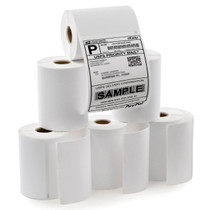 6 Rolls Dymo 1744907 Compatible Thermal Shipping Postage Label for 4xl Plus 24pcs Fragile Stickers