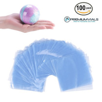 100 pcs Quality Shrink Wrap Bags 6 x 6 inch for Bath Bombs