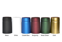 Black Shrink Capsules for Glass Woozy Hot Sauce & Wine Bottles - Pack 30