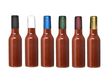 Gold Shrink Capsules for Glass Woozy Hot Sauce & Wine Bottles - Pack 30