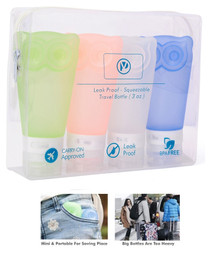 Travel Bottles Leak Proof Travel Toiletry Silicone Bottles set of 4 pack