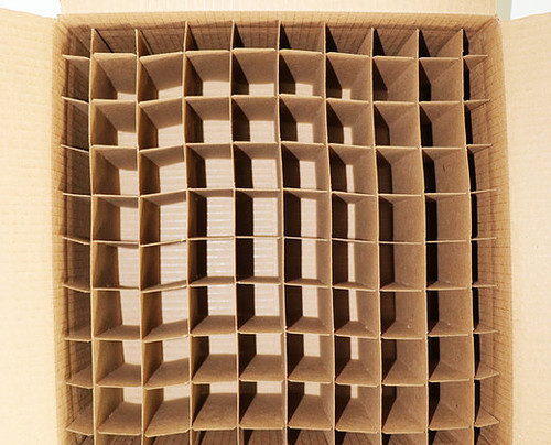 Corrugated Box with 80 Dividers (Fits 80 2 oz. Boston Round Bottles)