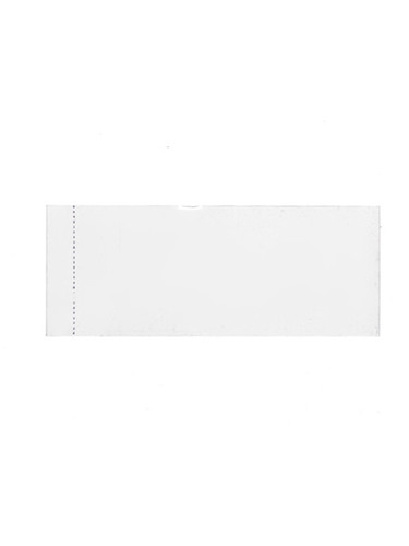 86x28 Clear PVC perforated shrink band - pack of 250 fits 2, 4 and 8 oz jars