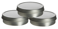 1/2 oz Shallow Round Tin Container with Slip Cover