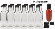 12 oz Round Sauce Bottle - Complete Set of Bottles with Shrink Sleeve, Bottles, and Lids