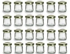 1 Ounce Mini Glass Honey Jars for Jam, Honey with Gold Lid - Pack of 24
