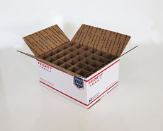 Corrugated Box (USPS MD) with 30 Cells (Fits 30 - 30ml Bottles)