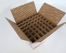 Corrugated Box (USPS  LG) with 49 Cells (Fits 49 - 60ml Bottles) - MOQ 100