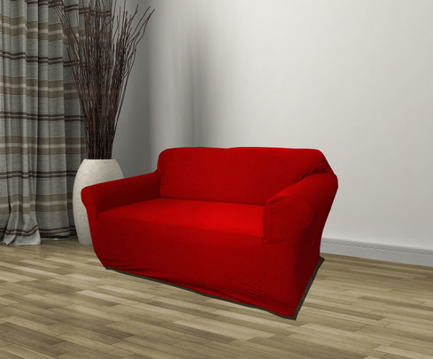 Red Jersey Slipcover Loveseat Linen Store
