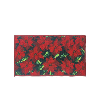 Kitchen Rug Christmas Decor Mat Red Poinsettia 18 Quot X30