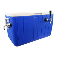 Jockey Box Picnic Cooler, 48QT, 1 Faucet, 70' Coil