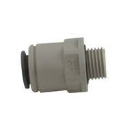 "John Guest Fitting, Male Connector 3/8"" X 1/4"" BSPP"