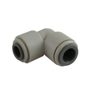 "John Guest Fitting, Gray Acetal 90° Elbow Reducer 3/8""x5/16"""