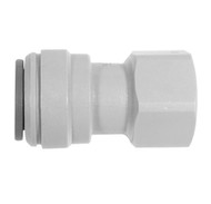 "John Guest Fitting, Gray Acetal Female Connector 1/2"" x 3/8"" BSPP"