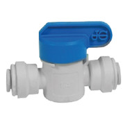 John Guest Fitting, Polypropylene Shut-Off Valve, 1/4""