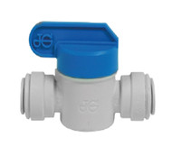 John Guest Fitting, Polypropylene Shut-Off Valve, 3/8""