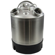 2.4 Gallon Stainless Steel Cleaning Can with two heads