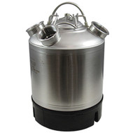 2.4 Gallon Stainless Steel Cleaning Can with four heads