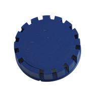 Tamper Evident Keg Cap, Type D Keg Cap, no logo, BLUE