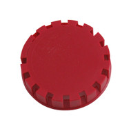 Tamper Evident Keg Cap, Type D Keg Cap, no logo, RED