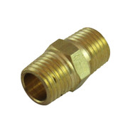 Regulator Part, Hex nipple MPT/Union 1/4'', Left Hand Thread