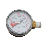 Regulator Part, 3000lbs Regulator gauge, Righthand thread