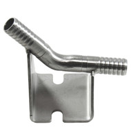 "SS Wall bracket  with 3/8"" barb"